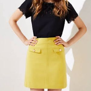 Loft Flap Pocket Shift Skirt